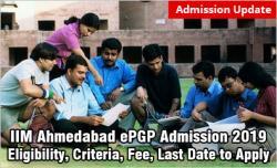 IIM Ahmedabad ePGP Admission 2019