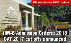 IIM Bangalore admission 2018
