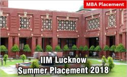 IIM Lucknow summer placement