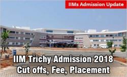 IIM Trichy Admission 2018