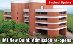 IMI New Delhi Admission re-opens