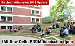 IMI New Delhi PGDM 2018-20