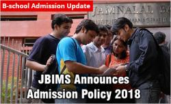 JBIMS Announces Admission Policy 2018