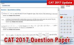 CAT 2017 Question paper
