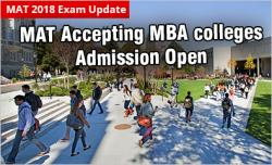 MBA colleges accepting MAT Score 2018