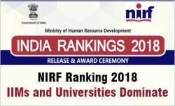 Nirf Ranking 2018 Released Iims And Universities Dominate