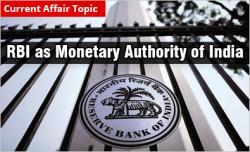 RBI as Monetary Authority of India