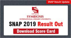 SNAP Result 2019 Out