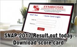 SNAP 2017 result