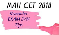 MAHCET 2018 Exam day tips