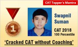 CAT 2018 Topper Swapnil Suman