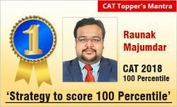 CAT 2018 Topper Rounak Majumdar