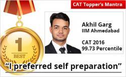 CAT topper success mantra
