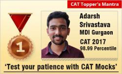 CAT 2018 Success Mantra from Adarsh Srivastava