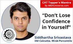 CAT 2018 Topper success mantra