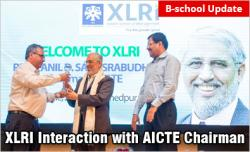 XLRI Jamshedpur Interactive Session with AICTE Chairman