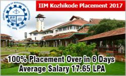 IIM Kozhikode Placement 2017: 100% placement over in 6 days