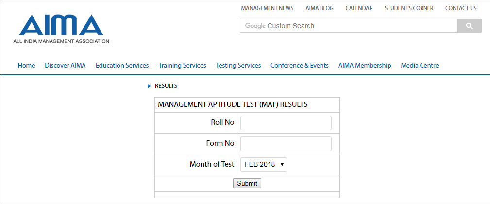 Mat February 2018 Results Declared Check Here Mat Result