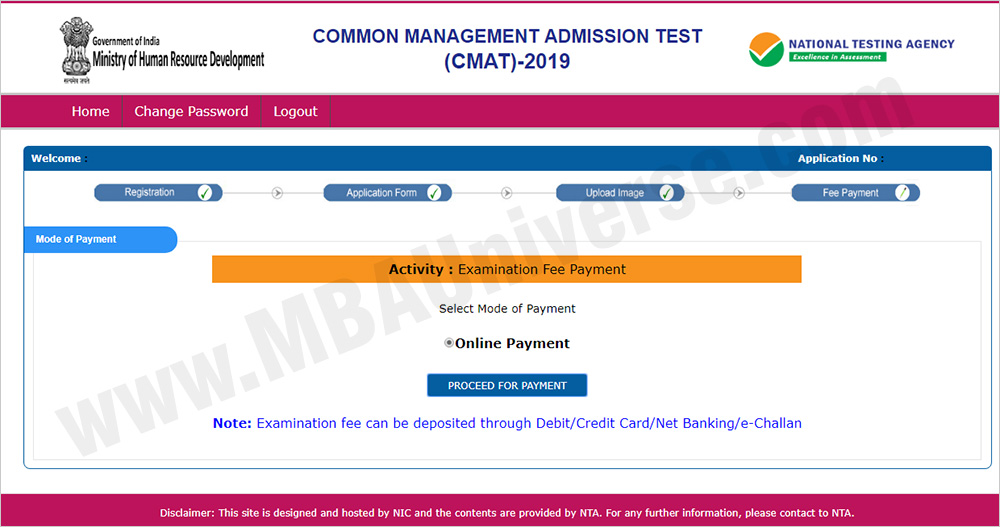 CMAT 2019 Registration Process Step 6