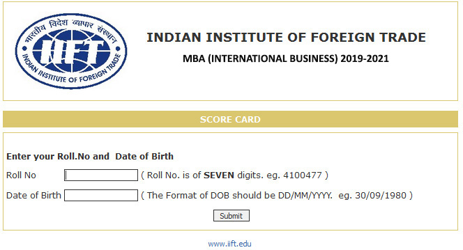 iift results