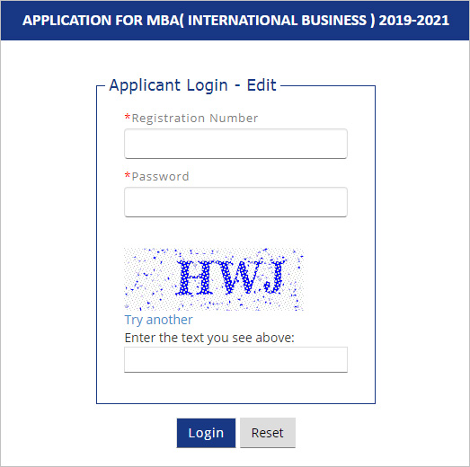 IIFT Application