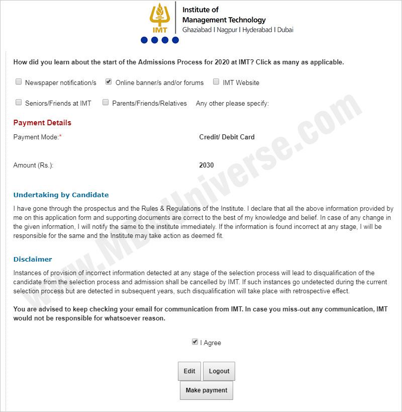 IMT Ghaziabad Application Process 1