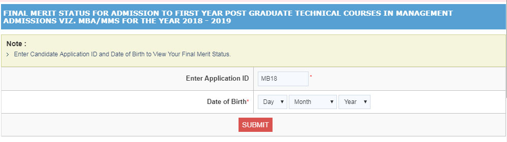 180f4775689 Directorate of Technical Education (DTE) Maharashtra has opened  Registrations for Non-CAP candidates for MBA MMS admission 2018-20 courses  in MBA colleges ...