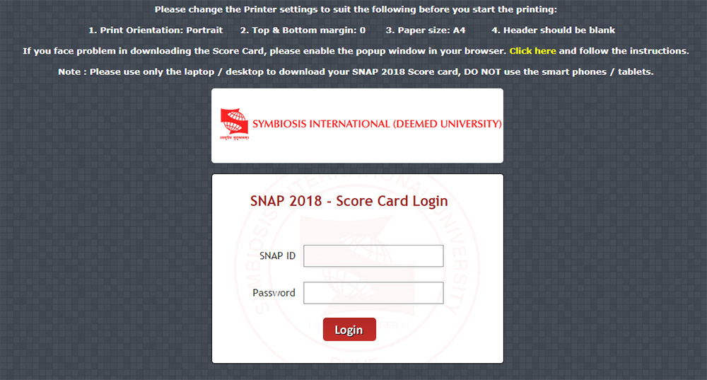Snap Exam Result